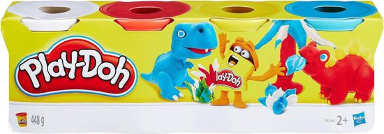 Play-Doh Kleuren Potjes Zoete Kleuren, 4st. - Play-Doh