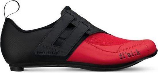 Fizik Transiro Powerstrap R4 Triathlon Schoenen, zwart/rood Schoenmaat EU 43