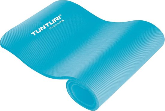 Tunturi NBR - Fitnessmat - 180 cm x 60 cm x 1,5 cm - Turquoise