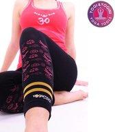 Yoga broek - Hatha asana capri - Naadloos - Zwart - Maat M/L