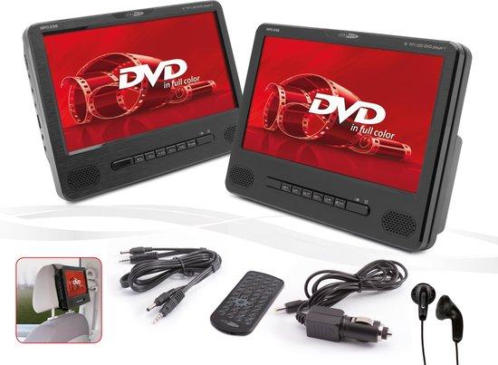 Caliber MPD298 - Portable dvd speler met 2x  DVD speler en twee schermen - Zwart