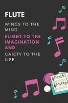 Flute Wings to the mind Flight to the imagination and Gaiety to the life