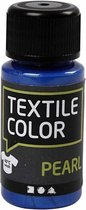 Textile Color, blauw, pearl, 50ml