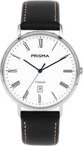 Prisma Titanium P.1485 Tailor herenhorloge leer zwart