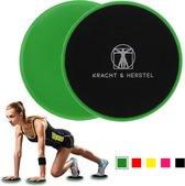 2 Professionele Sliding Discs   Met gratis E-book 'Hoe moet ik trainen & oefeningen'   Ab Trainer   Full Body   Core Trainer   Buikspieren Trainen   Sliding Pads   Afvallen Door Meer Spiermassa