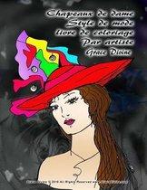 Chapeaux de dame Style de mode livre de coloriage Par artiste Grace Divine