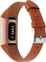 Bandje leer bruin classic geschikt voor Fitbit Charge 3 / Charge 4