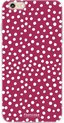 Polka Dots Bordeaux Rood