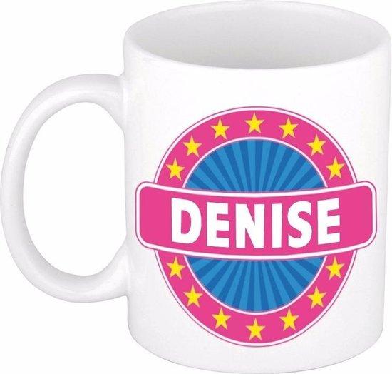 Denise naam koffie mok / beker 300 ml  - namen mokken