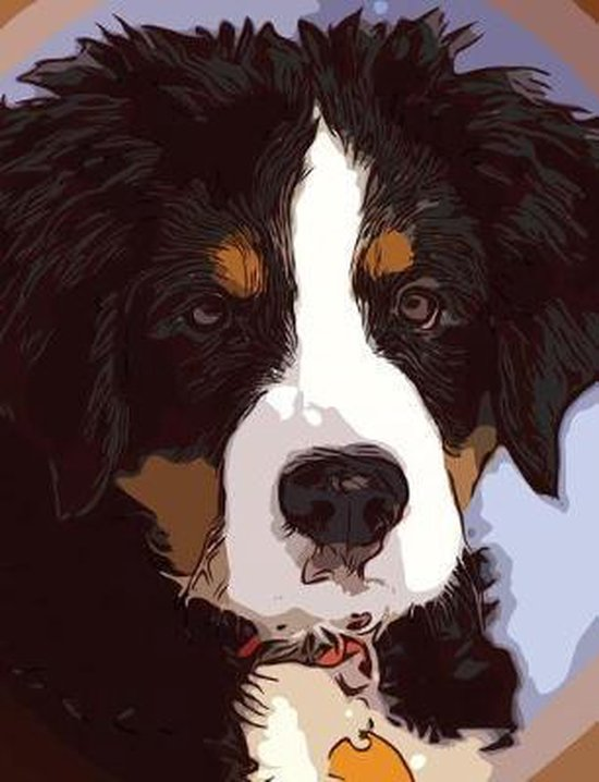 Bernese Mountain Dog Composition Notebook, 4x4 Quad Rule Graph Paper