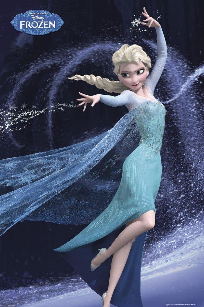 Disney Frozen Elsa laat het gaan - Poster - 61x91,5 cm - Multi