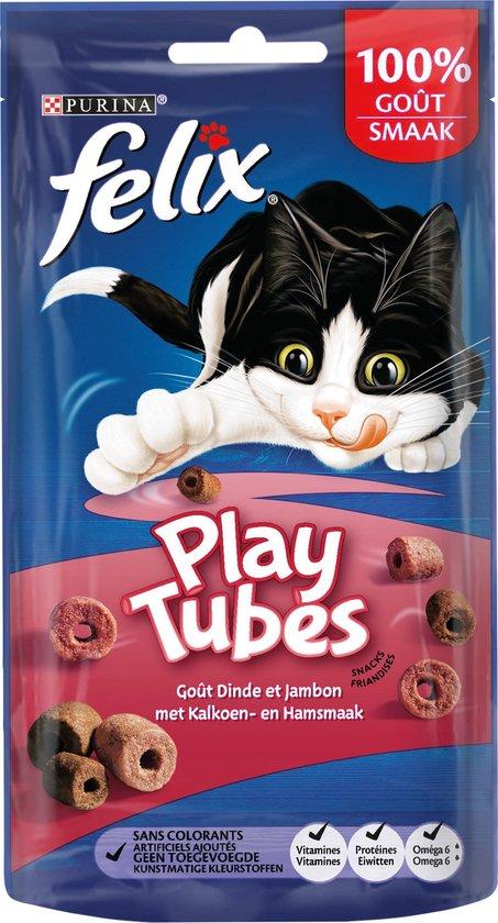 Felix PlayTubes - Kattensnacks Kalkoen & Ham - 8 x 50 g