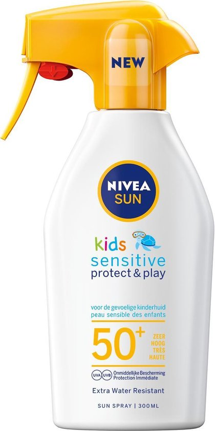 NIVEA SUN Kids Zonnebrand - Sensitive Protect & Play Zonnebrandspray - SPF 50 - 300 ml