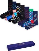 Happy Socks 7 Days Gift Box Navy, Maat 41-46