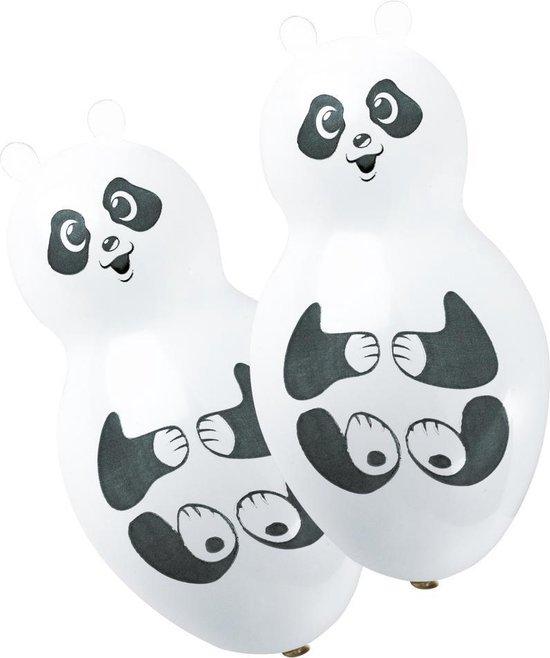 Amscan Ballonnen Panda Shapes 27,5 Cm Zwart/wit 4 Stuks