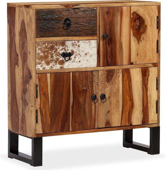 Ladekast Sheesham hout dressoir Sidetafel Bijzettafel 70x30x80 cm / schoenenkast / dressoir kast / gangkast schoenen kast / wandkast / commode kast / opbergkast