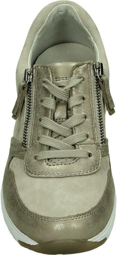 Gabor Rollingsoft Dames Lage Sneakers - Taupe Maat 37