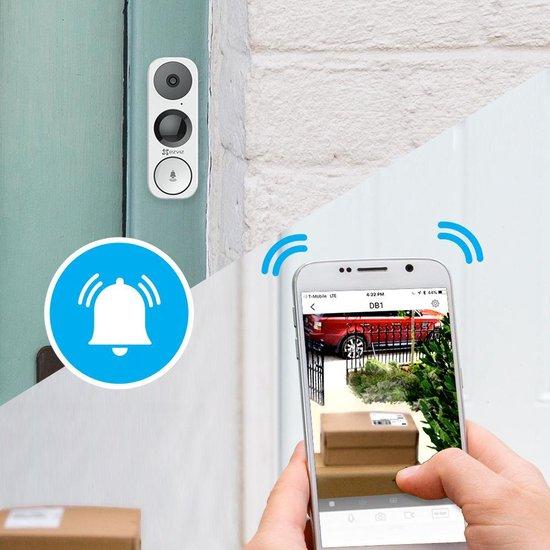 EZVIZ Wifi video deurbel - Wit - 3 Megapixel camera DB1 - EZVIZ