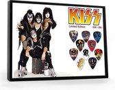 Plectrumdisplay Kiss ingelijst