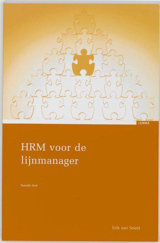Hrm Voor De Lijnmanager - Erik van Soest |