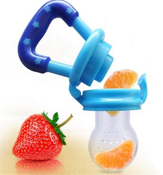 siliconen baby fruit speen voor baby's van 3 tot 12 maanden - baby fruitspeen - baby - 3 tot 12 maanden speen - fruit - kind - fopspeen - siliconen speen - blauw - gezondheid - voeding