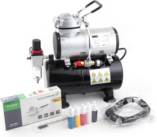 Afbeelding van Fengda FD-186K Airbrush Compressor Set – Compleet met Airbrush Pistool speelgoed