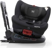 Babyauto Birofix Autostoel - Black/Black - 360 graden draaibaar