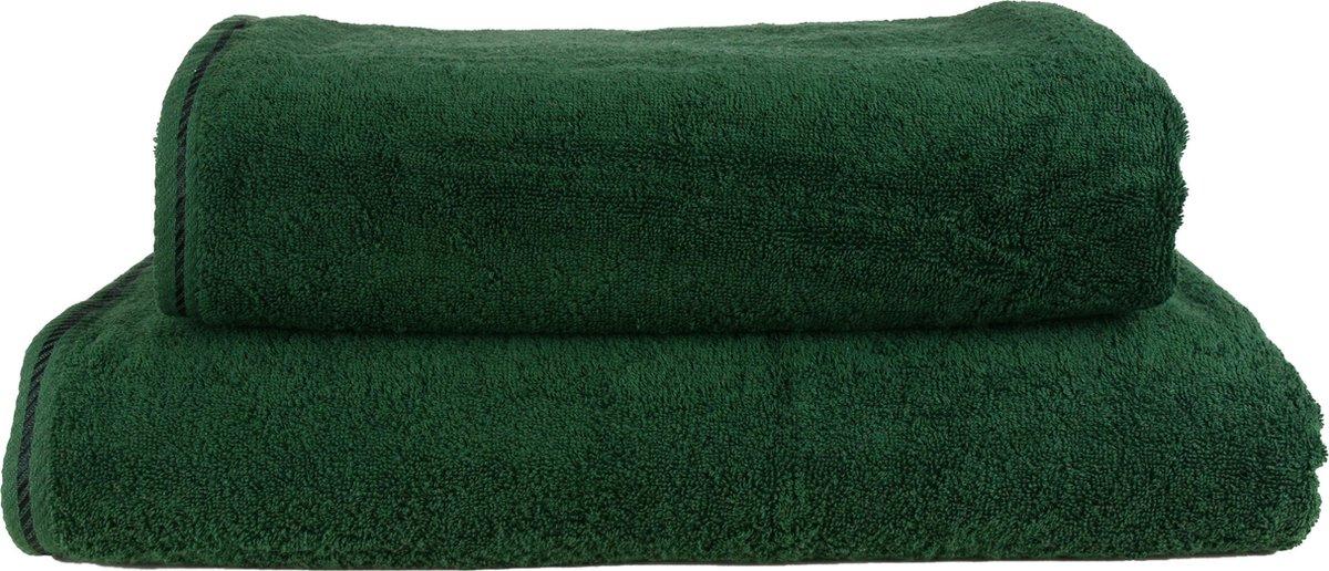 ARTG Towelzz® -  Strandhanddoek - Donkergroen - 100 x 180 cm - ARTG Towelzz®