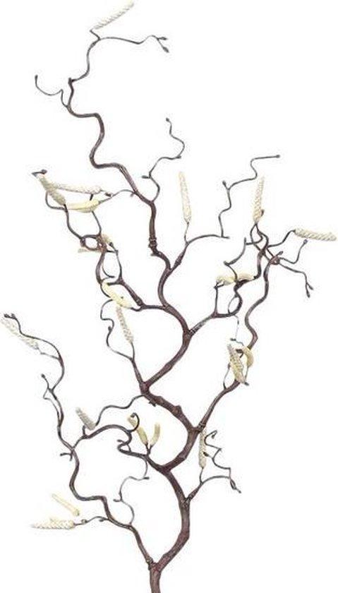 Kleine kronkelhazelaar paastak van kunststof - 66 cm - Paasversiering / Paasdecoratie