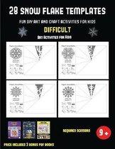 Art Activities for Kids (28 snowflake templates - Fun DIY art and craft activities for kids - Difficult)