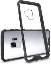 Let op type!! Voor Galaxy S9 acryl + TPU dekken schokbestendige transparant Armor beschermende back cover(Black)