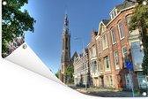 Kathedraal in het centrum van Groningen Tuinposter 90x60 cm - Tuindoek / Buitencanvas / Schilderijen voor buiten (tuin decoratie)