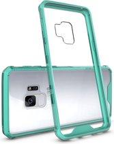 Let op type!! Voor Galaxy S9 acryl + TPU dekken schokbestendige transparant Armor beschermende back cover(Green)