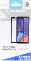Azuri screenprotector flat tempered glass RINOX ARMOR - Voor Samsung Galaxy A7 (2018) - Zwart