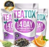 TEATOX 14-Daagse kuur - 100% Natuurlijke Afslank Thee - Detox Thee - 14 dagen teatox fit tea