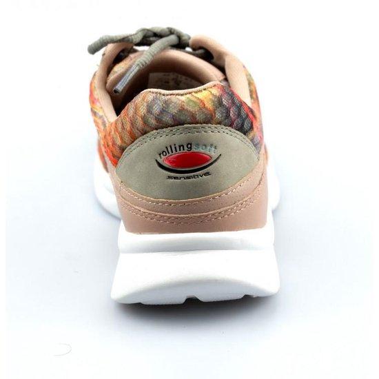 Gabor Rollingsoft Dames Dad Sneakers - Oranje Maat 38 Dw7YQk