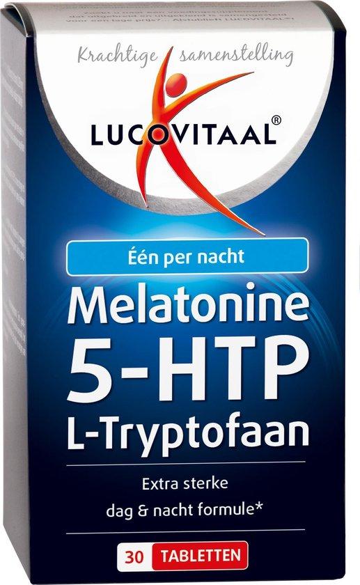 Lucovitaal Melatonine 5-HTP L-Tryptofaan Voedingssupplement - 30 Tabletten