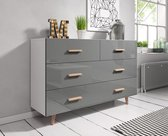 Ladekast Grijs Hoogglans - Scandinavisch Design - 125x35x80 cm
