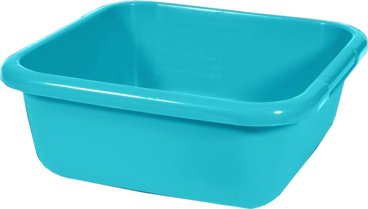Curver Afwasbak - Vierkant - 40x40x15 Cm - 15 Liter - Blauw