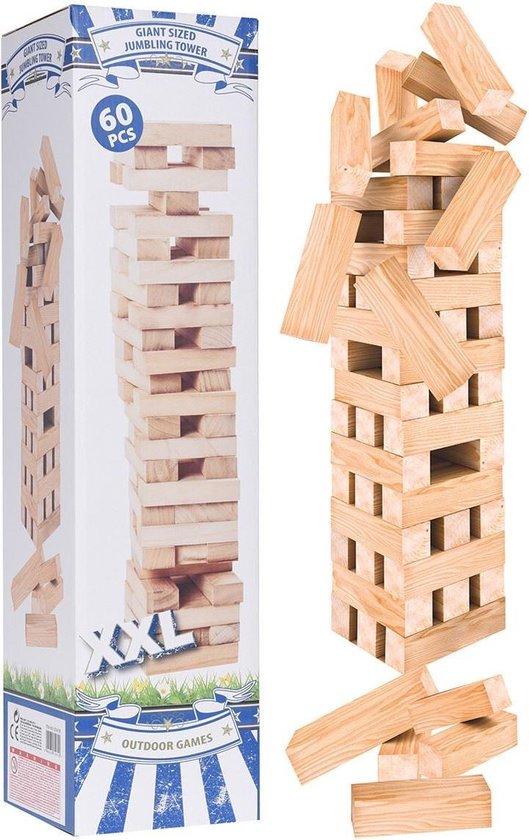 Afbeelding van het spel Outdoor Games Stapeltoren XXL - hout - 60 delig
