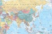 Azië  en Midden-Oosten-Asia and Middle-East-kaart-Poster-Formaat 61x91.5cm.