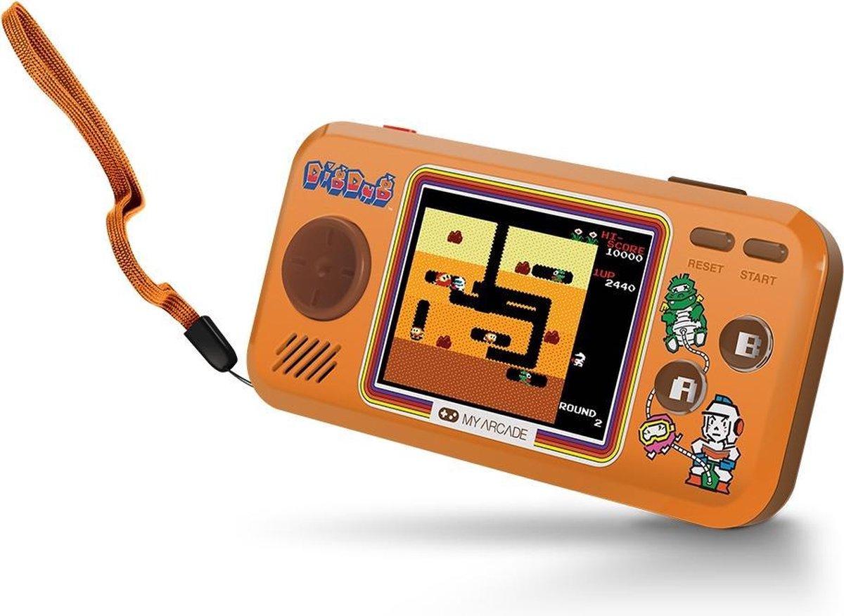 My Arcade Dig Dug draagbare game console Bruin 6,98 cm (2.75'')