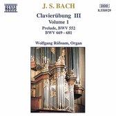 Bach: Clavierubung III Vol 1 / Wolfgang Rubsam