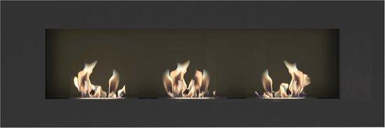 bio ethanol haard - 120 x 40 cm - sfeerhaard inbouwhaard - wandhaard -Kratki