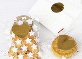 Sluitsticker - Sluitzegel - Gouden hart - 36 stuks | Trouwkaart - Geboortekaart  - Envelop | Goud - Gold | Hartjes | Envelop sticker | Cadeau - Gift - Cadeauzakje - Traktatie | Chique inpakken | Huwelijk - Babyshower - Kraamfeest - Kerst - Christmas