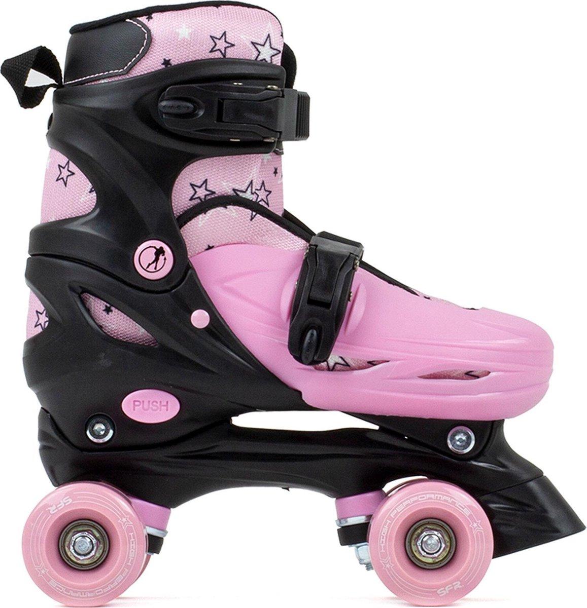 SFR Rolschaatsen - Maat 33-37Volwassenen - roze/zwart