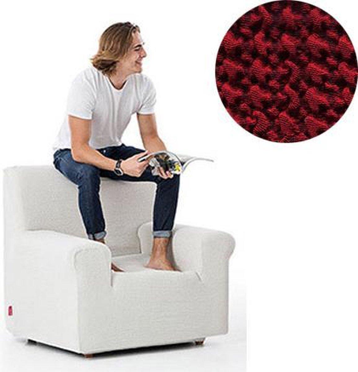 Milos meubelhoezen - Hoes voor fauteuil 70-110cm - Rood - Verkrijgbaar in verschillende kleuren!