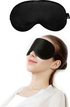 SIMIA™ Premium Zijden Slaapmasker - Luxe Verstelbare Oogmasker - 100% Zijde - Slaapbril - Reismasker - Blinddoek - Powernap - Meditatie - Yoga - Slaap - Reis - Ontspanning - Zijdezacht - Anti Rimpel - Cadeau Tip - Zwart