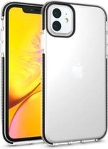 11 Pro Max hoesje – Transparant met zwarte bumper – TPU – shockproof - transparant – zwart – iPhone case - Apple