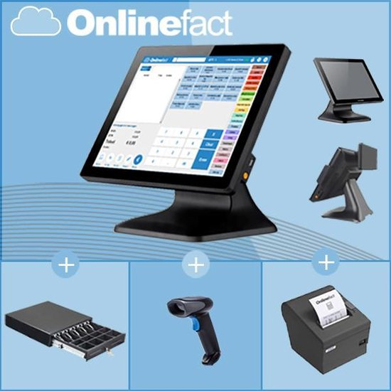 Touch Screen kassa unit + ticket printer + Barcodescanner
